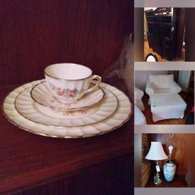 MaxSold Auction: This online auction features furniture such as IKEA chairs, bookcases, china cabinet, dining table with chairs, and patio set, luggage, lamps, hardware, Bluetooth headphones, kitchenware, planters, golf clubs, handbags and much more!