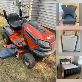 MaxSold Auction: This online auction features Kobalt Toolbox, Camping Gear, Power Tools, Air Compressor, Yard Tools, Pet Supplies, Sewing Machine, Outdoor Games, Refrigerator, TV, Blackstone Grill, Riding Lawnmower, Electric Pellet Grill, Toy Cars, Small Kitchen Appliances, Washer, Dryer, Craft Supplies and much more!