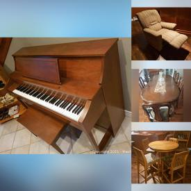 MaxSold Auction: This online auction features Gerhardt Heintzman spinet piano, collector plates, furniture such as dining table with chairs, oak cabinet, bedroom dresser with mirror, and La-Z-Boy recliner, children's toys, books, Christmas decor and much more!