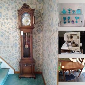 MaxSold Auction: This online auction features Sterling, Fenton Glass, Flat Screen TV's, Artwork, Coat Racks, Furniture, Tables, Kitchenware, Pottery, Kitchen Appliances, Statues, Figures, China, Lamps, Trinket boxes, Royal Doulton, Gold Jewelry, DISNEY, Books and much more.