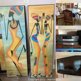 MaxSold Auction: This online auction features art and decor, furniture, electronics, kitchenware and much more!