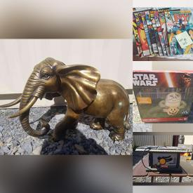 MaxSold Auction: This online auction features Brass Elephant, Animated Halloween Decorations, Fog Machine, Halloween Costumes, Table Saw, Scroll Saw, Toys, Dog Crate, Comics, Christmas Blow-Up Decoration, Angelina Waren Artwork and much more!