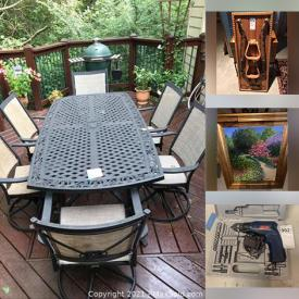 MaxSold Auction: This online auction features artwork, furniture, washer, dryer, dishware, rugs, power tools and much more!