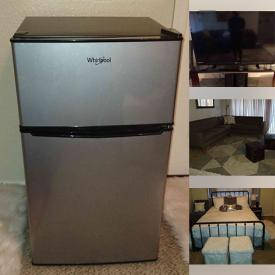 MaxSold Auction: This online auction features Sectional Sofa, Cube Ottomans, Small Refrigerator, TVs, Dining Room Table & Chairs, Bikes, Scooter, Counter Stools and much more!
