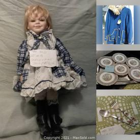 MaxSold Auction: This online auction features Lalique, Royal Albert China, Royal Doulton, Vintage Hats, Vintage Dolls, Handmade coats and much more.