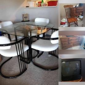 MaxSold Auction: This online auction features Dining Room Table & Chairs, Sofa, Teapots, Collector Teacups, Hope Chest, Computer Desk and much more!