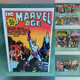 MaxSold Auction: This online auction features Vintage Comic Books such as Marvel Avengers, Fantastic Four, Conan The Barbarian, Dazzler, Luke Cage, What If, and DC Green Lantern, Captain Carrot, Men of War, Superman, and Vintage LPs and much more!
