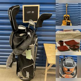 MaxSold Auction: This online auction features Camping Gear, Shop-Vac, Power & Hand Tools, Board Games, Golf Clubs, Acoustic Guitar, Small Kitchen Appliances, NIB Dishes, Watch Gift Sets and much more!