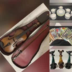 MaxSold Auction: This online auction features Antique Instruments, DVDs, Christmas Decorations, Fine China, Games, Books, Model Cars, Artwork, Books, Crystal, Men's Shoes, XBOX Games and controllers, Statues and much more.