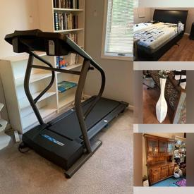 MaxSold Auction: This online auction features furniture such as an upholstered chair, rolling chair, desk chair, loveseat sleeper, sideboard, sleigh bed, nightstands, wall unit, Kenmore sewing machine in table, hutch, bedframe, futon and more, Weber propane grill, garden scooter, outdoor umbrella, plant pots, bookshelves, Christmas decor, jewelry, Kitchenaid mixer, serving ware, glassware, Le Creuset, Lifecycle 5500, laundry items, sports items, healthcare equipment and much more!