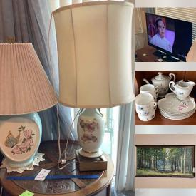 MaxSold Auction: This online auction features Patio furniture, BBQ, Outdoor kid toy, Artwork, Vases, Lamps, Art supplies, Pottery, Glassware, Kitchenware, Electronics, Musical Equipment, Garage Shelving, Christmas decorations, Desk, Crafting Supplies and much more.