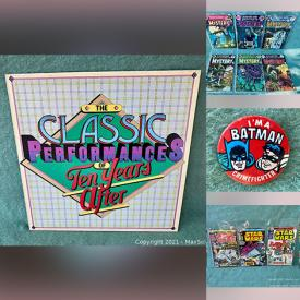 MaxSold Auction: This online auction features Comics such as Vintage DC including House of Mystery, Wonder Woman, Vintage Marvel including Werewolf, Super Action, Luke Cage, Spiderman, Star Wars, Vintage Richie Rich, Vintage Archie in Comic Bags, LPs and much more!