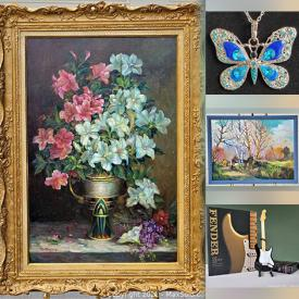 MaxSold Auction: This online auction features Satsuma Urn, New Fashion Costume Jewellery, Oil Paintings, Samuel Prout Lithographs, Fishing Gear, Simon Tookoome Seriagraphs, Art Books, Character Jugs, Watercolour Paintings and much more!