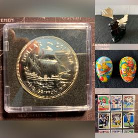 MaxSold Auction: This online auction features Silver Coins, Pottery, Ceramics, Statues, Figures, Artwork, Baseball cards, Carved Wood, Blue Jays Memorabilia, Kitchenware, Bottles, Rocks and Minerals, Media, Games, LEGO and much more.