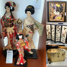 MaxSold Auction: This online auction features Mikasa China, TV, Japanese-inspired artwork, Asian Shelf Art, Bar Table, Geisha Figurine, Japanese Collector Plates, Furniture Disney Memorabilia and much more!