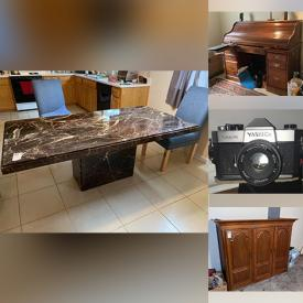 MaxSold Auction: This online auction features jewelry, Men's suits, Tuxedo, Vinyl LPs, CDs, Solid wood Furniture, Homecare & Cleaning supplies, Home Electronics & Tech Gadgets, Office Furniture, Equipment & supplies, Signed Artwork, Stereo Equipment & Components and much more!