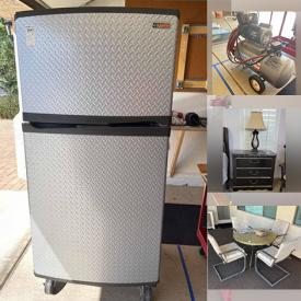 MaxSold Auction: This online auction includes, Sligh clock, power recline sofa and chair. art, Ridgeway Grandfather clock, shop vac, pressure washer, solar lights, miter saw and table, refrigerator freezer, wheelbarrow and garden tools, leaf blower, zero gravity chairs. costume jewelry, ladders, elliptical machine, art glass, kitchen gadgets, HP laptop, router, China, lawnmower, garden tools, headphones, monitors, printer, rugs and more!