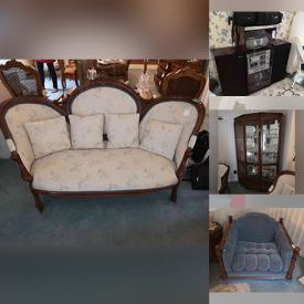 MaxSold Auction: This online auction features Sterling Silver vanity items, Furniture, Glassware, Kitchen appliances, Toys, Accent pieces, Exercise equipment, Lamps, Electronics, Jewelry, Christmas Decorations and much more.