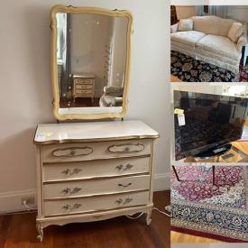 MaxSold Auction: This online auction features furniture, rugs, lenox dishes, statues, framed art, BBQ, teacups, electronics, and much more!