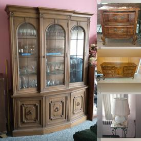 MaxSold Auction: This online auction features tools, figurines, stemware, records, oak furniture and much more!