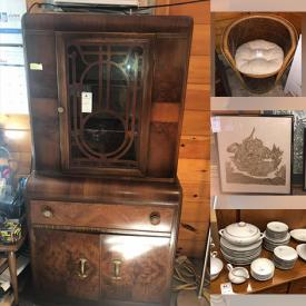 MaxSold Auction: This online auction features Porsche Rims, Side Chairs, Vintage cabinets, Mirrors, Ottomans, Kitchen Appliances, Portable Toilet, Nightstands, Artwork, Buffet, Lamps, Sports Equipment, MCM Furniture, Waterford Crystal, NEW K cup vending machines and much more