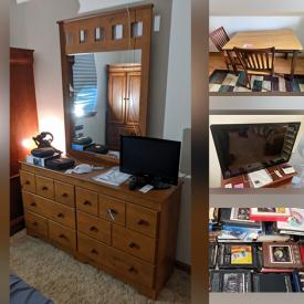 """MaxSold Auction: This online auction features Corvette memorabilia, Miami Dolphins memorabilia, comic books, 35"""" Sony TV, furniture such as leather office chairs, loveseat, media cabinet, sofa, dressers and armoires, Dyson vacuum, small kitchen appliances, storage cabinets, Sony stereo, area rug and much more!"""