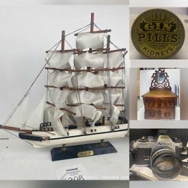 MaxSold Auction: This online auction features Vintage Lighters, Antique Bottles, Movie Posters, Barbie Dolls, Camera Equipment, Necklaces, Sterling, Leather Coats, Primitive, Crocks, Furniture, DISNEY, Crystal, Pottery, Tools and much more.