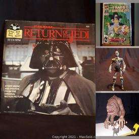 MaxSold Auction: This online auction features Hotwheels in Original Package, Star Wars Collectibles, Comics, Starting Lineup Figurines, TV Show Collectibles, Mini Helmets, WWF Collectibles, Popcorn Maker, Sports Bobbleheads, WCW Stars Rides, Vintage Transformer and much more!