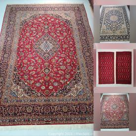 MaxSold Auction: This online auction features Vintage Persian rugs including Isfahan, Kashan, Zanjan, Hamedan and more!