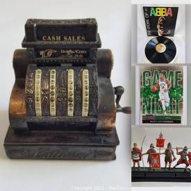 MaxSold Auction: This online auction features Vintage Roman Soldiers Set, LPs, Coins, Antique Pencil Sharpener, Sports Cards, Antique Model Kit, Sterling Silver Jewelry, Vintage Books, Vintage Felt Pennants, Comics and much more!