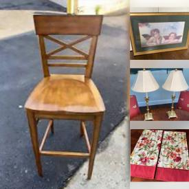 MaxSold Auction: This online auction features Table Linens, Ethan Allen Barstools, Framed Original Artwork, Table Lamps, Bed Frames and much more!