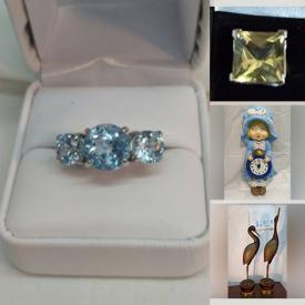 MaxSold Auction: This online auction features Teak Hutch, Stereo Components, Blue Topaz Ring, Quartz & Diamond Ring, Printer, Art Pottery, Small Kitchen Appliances, Blueray Disks, TVs, Hand Woven Silk Rug. Vintage Books, Kirkland Musical Waterglobs, Tools, Pampered Chef Baking Dishes and much more!