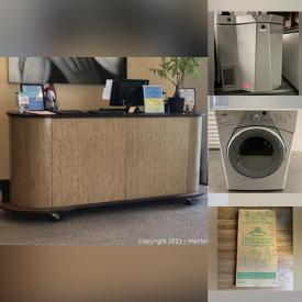 MaxSold Auction: This online auction features sofas, refrigerator, yoga mats, Mexican blankets, laser printers, washer, security camera, benches, tables, desk, bulletin/ chalkboard, boom box, clocks, humidifiers, dryer, office phones and much more!