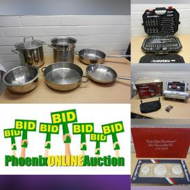 MaxSold Auction: This online auction features Sterling Silver & Turquoise, Guitar Amp, Hand Tools, Air Compressor, Decorative Clay Pottery, Computer Hardware, Pet Supplies, Yarn, Coins, Small Kitchen Appliances, Crafting Supplies, Vintage Glass, Stamps, Comics and much more!