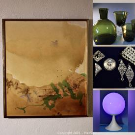 MaxSold Auction: This online auction features, Original Paintings, Vintage Pottery/Glassware, Vintage Jewelry, assorted fabrics and tapestries and much more!