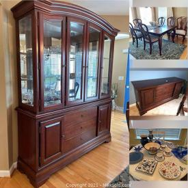 MaxSold Auction: This online auction features Wall Clock, Faux Flowers, Sectional Sofa, Area Rugs, Metal Wall Art, Lenox China Pieces, Art Glass, Small Kitchen Appliances, Kitchen Gadgets, Porch Rocking Chairs, and much more!