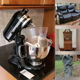 MaxSold Auction: This auction features Patio Set, Barrel Cooker, Windchimes, Garden Decor, Loveseat, Coffee Table, TV, Area Rug, China, Artwork, Sofa, Kitchen Aid Mixer, Vinyl Records, Costume Jewelry, 18k Gold Ring and much more!