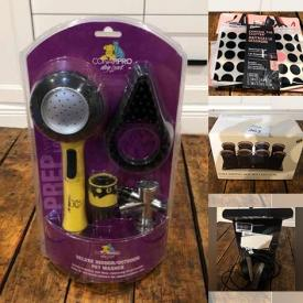 MaxSold Auction: This auction features men shoes, watches, lamp, hair salon items, scales, figurines, apple electronic, clothes, extension cords, kitchenware items, workout equipment, pet items, phone cases, beauty products, cleaning items and many more!