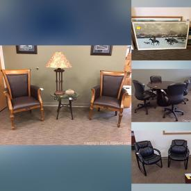 MaxSold Auction: This online auction features Executive Conference Table, Projection Screen, Lateral File Cabinet, Microwave, Keurig, Leather Office Chairs, Round Meeting Table, Executive Desk, Herman Miller Executive Office Chair, Credenza and much more!