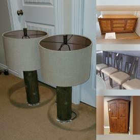 MaxSold Auction: This online auction features Thomasville Dresser, Stanley Side Table, Dinette, Chairs, Light Fixtures, Ceiling Fans, Lamps, Samsung TV and more!