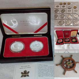 MaxSold Auction: This online auction includes vintage and antique US, Canadian and international coin collections, hardware, cotton candy machine, vintage ship's wheel, Indigenous art, antique photos, fossils, and more!