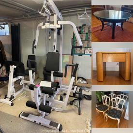 MaxSold Auction: This online auction features furniture, exercise equipment, mirror, massage chair, vintage sled, Hummel figurines, TV, Yamaha keyboard, silver plate, workbench, power tools, ladder, rugs and much more!