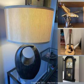 MaxSold Auction: This online auction features MCM Cabinet, Smoker, Antique Dresser, Antique Mantle Clock, Floating Shelves, Collector Plates, Dog Beds, Yamaha Guitar, Bergere Chair, Exercise Equipment, Fabric, Indonesian Chippendale Chair and much more!
