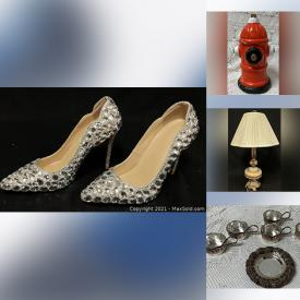 MaxSold Auction: This online auction features Fishing equipment, Vintage Toys, Pottery, Artwork, Figures, Statues, Murano Glass, Shoes, Kitchenware and more.