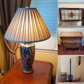 MaxSold Auction: This online auction features Outerwear, Designer Sofa, Oriental Porcelain Table Lamps, Art Glass, Wood Faux Fireplace, Seashell Decor, Lenox Collectibles, Leaded Stained Glass, Oriental Rug, Hummel, Royal Doulton, Miniatures, Computers, and Much, Much, More!!