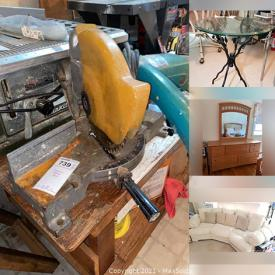 MaxSold Auction: This online auction features sofas, ladders, tables, kitchen appliances, home good appliances, beds, linens, wall arts, sports equipment, office/ art supplies, tools, painting supplies, carpentry tools and much more!