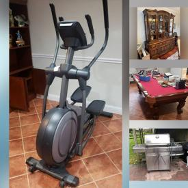 MaxSold Auction: This online auction features Furniture, Decanters, fitness equipment, books, records, Christmas decor, Rugs, Thomasville furniture, lamps, treasured items and much more!