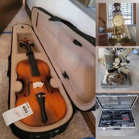 MaxSold Auction: This online auction features ceramics such as Limoges, Lenox, and Belleek, silverplate such as Gorham Co. tea service, serving ware, and tableware, décor such as framed prints, Waterford, Franklin Mint paperweights, Fritz and Floyd figurines, crystalware, and holiday decorations, furniture such as vintage cabinet, sofa, canopy beds, Thomasville dresser, and dressers, mobility equipment such as Get U Up-Lift and wheelchairs, tools such as Husky toolbox, Craftsman toolbox, and Ryobi saw, electronics such as Panasonic AC convertor and Osborne vintage computers and much more!