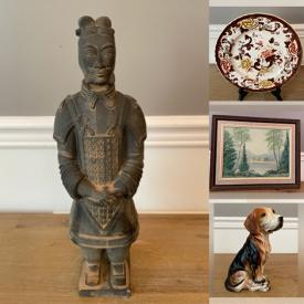 MaxSold Auction: This online auction features Blue Flow Jug, Royal Staffordshire Trinket Dish, Original Oil Paintings, Li Bien Ornament, Chinese Famille Rose Planter, Collectible Teacups, Original Watercolors, Japanese Tea Set, Collectible Waechteresbach Coffee Cups and much more!
