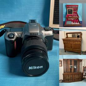 MaxSold Auction: This online auction features Geisha Sculptures, Sunbeam Mix Master, Teak Salad Bowls, Art Glass, Copper Pots, Fondue Sets, Art Pottery, Brass Bed Frame, Cameras, Routers and much more!